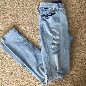 Express Skinny Jeans Size 4 destructed torn holes